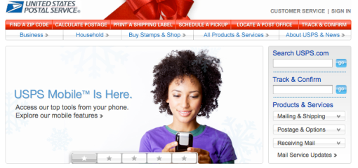 USPS Homepage